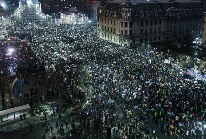ВРумынии идут протесты— Погода непомеха