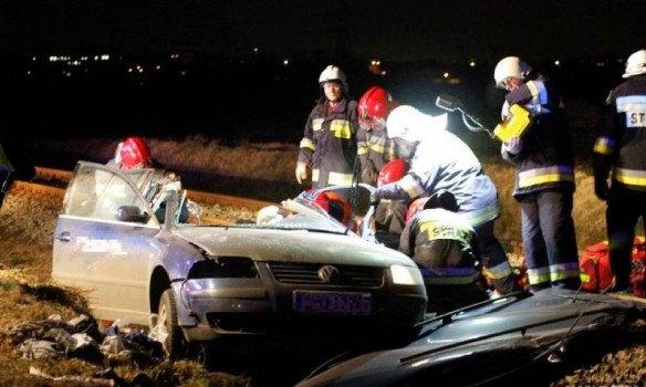 ДТП сукраинцами вПольше: размещено видео сместа происшествия