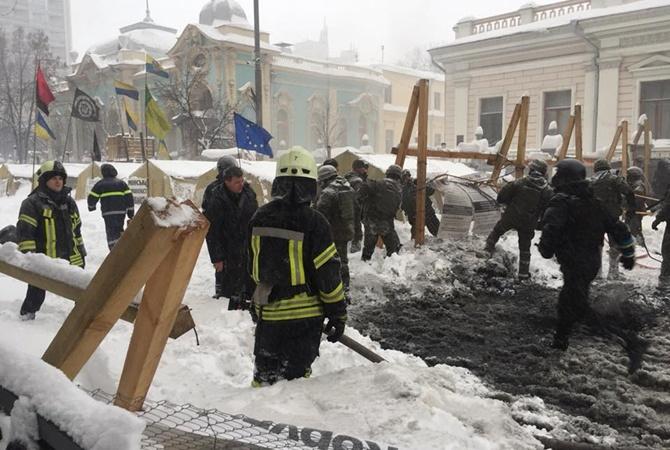 Столкновения под Радой: появилось разъяснение сносу палаточного городка