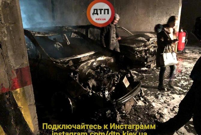 ВКиеве наподземном паркинге дотла сгорели 5 машин