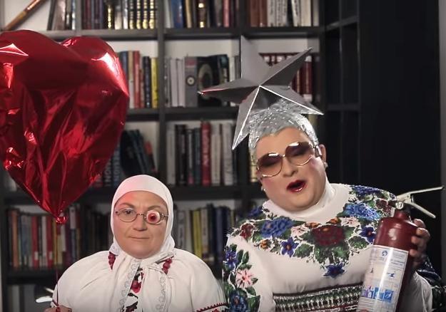 Данилко вобразе Сердючки записал смешное видеообращение кпевцу Melovin