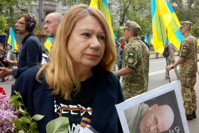 ВКиеве вовремя акции задержали мать погибшей Бережной