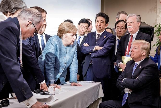 Меркель осталась недовольна аргументами Трампа овозвращенииРФ вG7