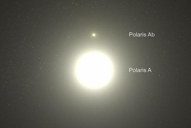 Вычислено расстояние доПолярной звезды