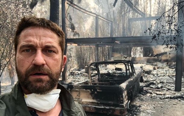 Лесной пожар в Калифорнии уничтожил дом актера Джерарда Батлера