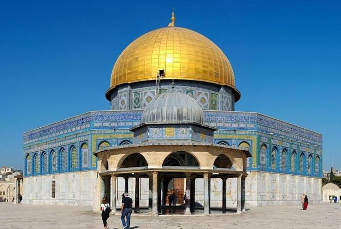ВИерусалиме наХрамовой горе вспыхнул пожар, ВИДЕО