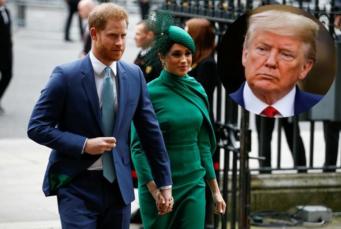 Трамп заявил, что США платить за охрану Меган Маркл и принца Гарри не будет
