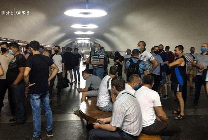 В Харькове протестуют машинисты метрополитена, которым несколько месяцев не выдают зарплату