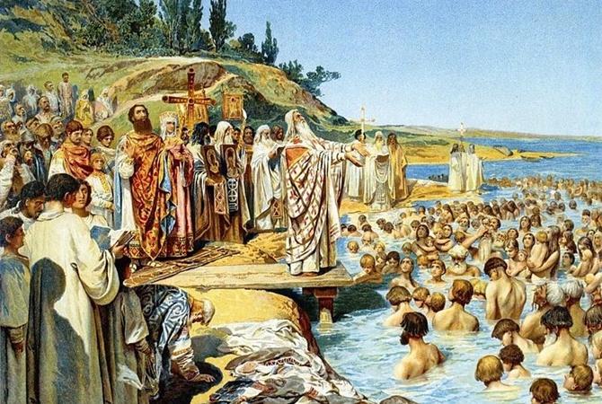 В День Крещения Руси Порошенко припомнил Томос, а Онуфрий - географию древнего государства