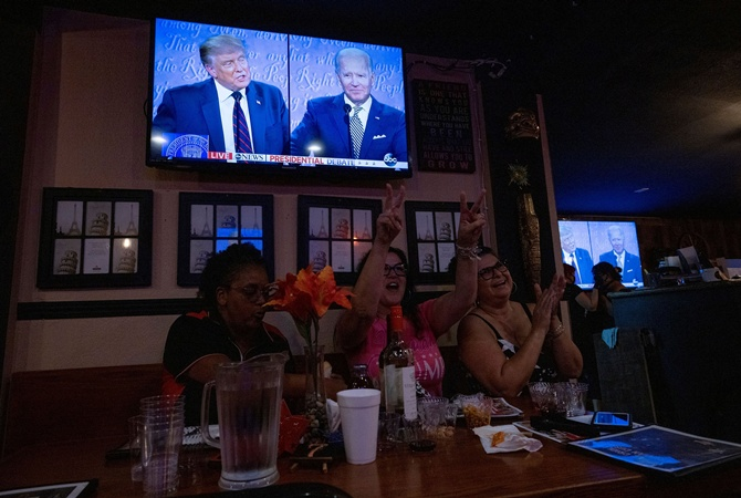Байден и Трамп провели первые предвыборные дебаты. С самого начала они превратились в хаос