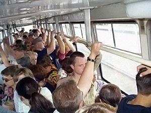 Шупают в транспорте